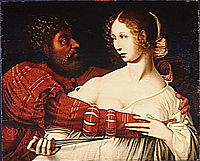 Tarquin and Lucretia, hemessen