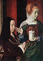 Madeleine of Bourgogne presented by St. Mary Magdalene, 1490, hey