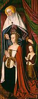 St. Anne presenting Anne of France and her daughter, Suzanne of Bourbon - right wing of The Bourbon Altarpiece, c.1498, hey