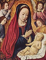 The Virgin and Child Adored by Angels, 1492, hey