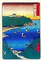 Bay at Kominato in Awa Province, hiroshige
