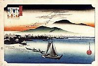 Descending Geese, Katata, hiroshige