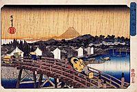 Evening Shower at Nihonbashi Bridge, c.1832, hiroshige