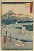 Folio From the Upright Gojusan Tsuji Tokaido, 1858, hiroshige