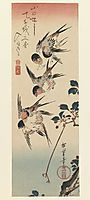 Four Swallows, 1832, hiroshige