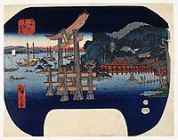 Itsukushima in Aki Province, 1858, hiroshige