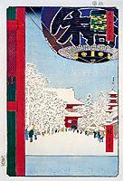 Kinryuzan Temple at Asakusa, hiroshige