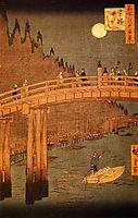 Kyobashi Bridge, 1858, hiroshige