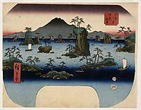 Matsushima in Oshu Province, hiroshige