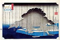 Night Rain on Karasaki, hiroshige