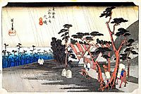 Oiso: Toraga Ame Shower, 1835, hiroshige
