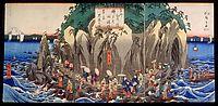 Pilgrimage to the Cave Shrine of Benzaiten, hiroshige
