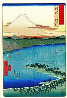 The Pine Grove at Mio in Suruga Province, hiroshige