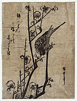Plum Blossom and Bush Warbler, 1838, hiroshige