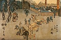 The road connecting Edo (Tokyo) and Kyoto, 1850, hiroshige