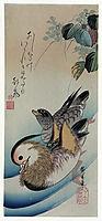 Two Mandarin Ducks , 1838, hiroshige