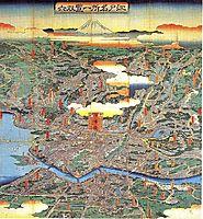 A vision of Shitamachi, hiroshige