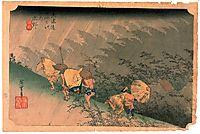 White Rain, Shono, 1834, hiroshige