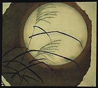 Wind Blown Grass Across the Moon, hiroshige
