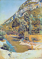 At the foot of the Petit Saleve, 1890, hodler