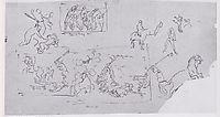 Battle scenes, c.1896, hodler