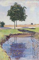 The chestnut trees, 1889, hodler