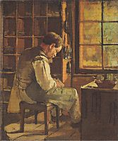 The cobbler by the window, 1882, hodler