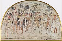 Compositional study to retreat from Marignano, c.1897, hodler