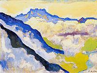 Dents du Midi in Clouds, 1917, hodler