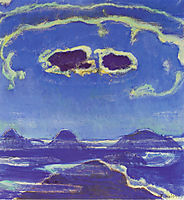 Eiger, Monch and Jungfrau in Moonlight, 1908, hodler