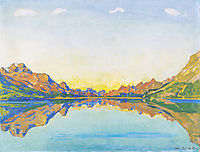 The fall in Silvaplana, 1907, hodler