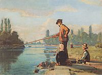 The fisherman, c.1879, hodler