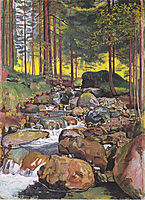 Forest with a mountain stream, 1902, hodler