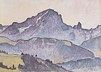 From Le Grand Muveran Villars, 1912, hodler