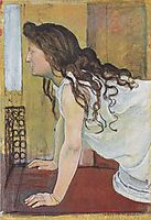 Girl at the Window, 1890, hodler