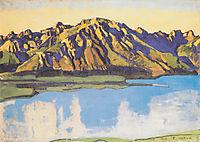 The Grammont in the morning sun, 1917, hodler