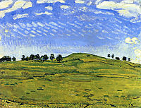 Hilly Landscape with Ravens, in the Bernese Oberland, 1910, hodler