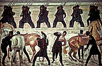Jena Students Depart for the War of Liberation, 1813, 1908, hodler