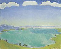 Lake Geneva from the Caux, 1917, hodler