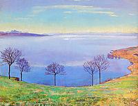The Lake Geneva from Chexbres, 1898, hodler
