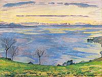 Lake Geneva on the evening in Chexbres, 1895, hodler