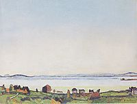 The Lake Geneva from Lausanne, 1912, hodler