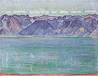 Lake Geneva, overlooking the Savoyerberge, c.1906, hodler