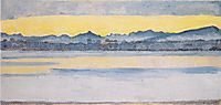 Lake Geneva with Mont Blanc at dawn, 1918, hodler