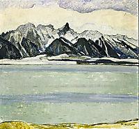 Lake Thun with Stockhornkette in Winter, hodler