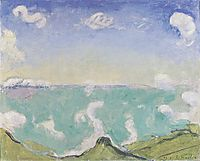 Landscape at Caux with increasing clouds, 1917, hodler
