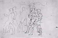 Left border warriors, c.1899, hodler