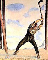 Lumberjack, 1910, hodler