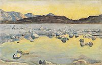 Maggia Delta before sunrise, 1893, hodler