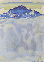 The maiden of the mist over the sea, 1908, hodler